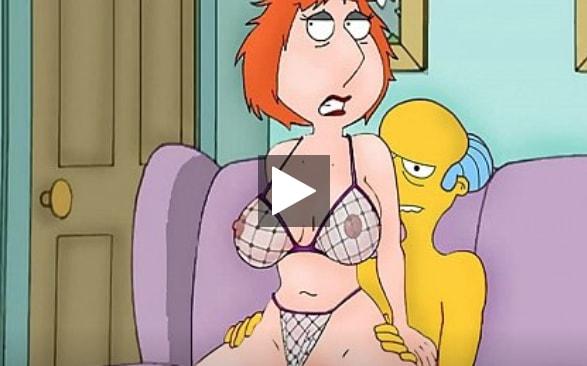 Griffins-porno-Simpsons